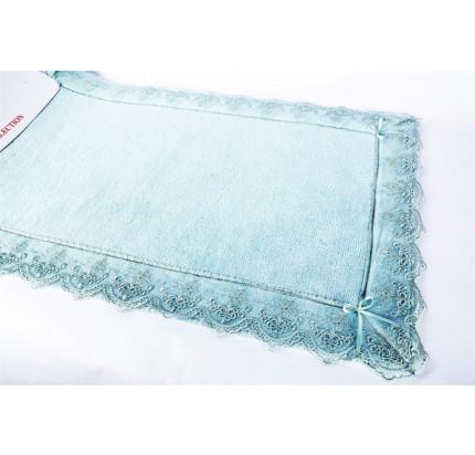 Набор ковриков Karven Berra бирюзовый (50x60+60x100)