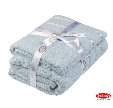 Набор полотенец Hobby Home Nisa голубой (50x90+70x140 - 2 предмета)