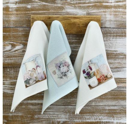 Салфетки для кухни Tivolyo Bluebell (3 предмета) 40x60