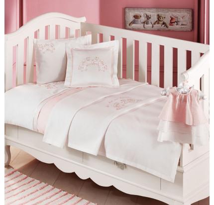 Детское белье в кроватку Tivolyo Home Family (розовое)