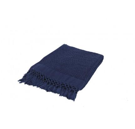 Плед Buldan's Bohem (темно-синий) 130x170