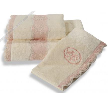 Набор полотенец Soft Cotton Buket (кремовый) 3 предмета
