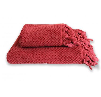 Полотенце Buldan's Cakil (бордовый)