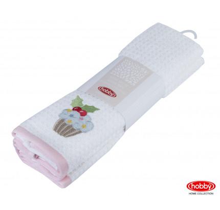 Салфетки Hobby Home Candy розовый/белый (2 предмета, 40x60)