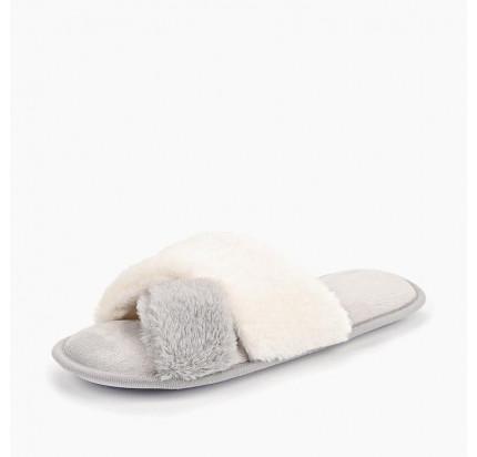 Тапочки Sofi de Marko №3 (бело-серый)