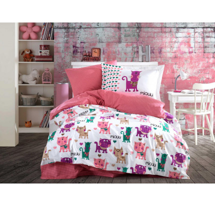 Hobby Home Miouu (розовый) детское постельное белье