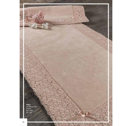 Набор ковриков Karven Vals пудра (50x60+60x100)
