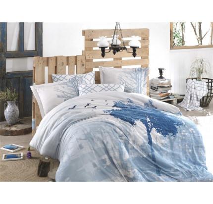 Постельное белье Hobby Home сатин Alandra (голубой)