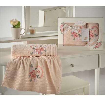 Набор полотенец Karna Camile (абрикосовый, 2 предмета)