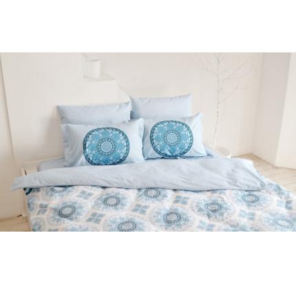 Постельное белье Hobby Home поплин Silvana (синий)