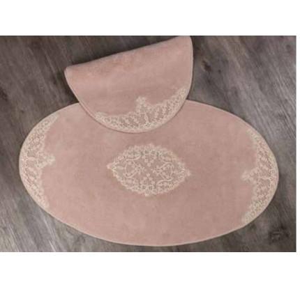 Набор ковриков Karven Tual Oval пудра (50x60+60x100)