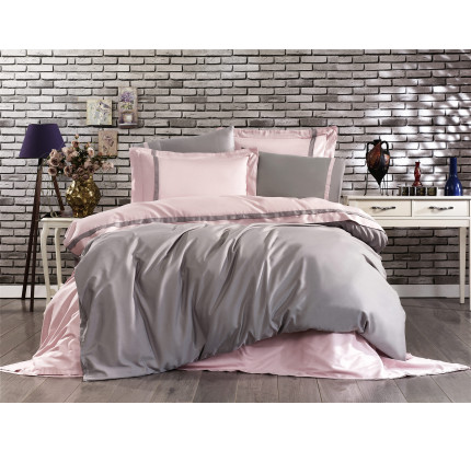 Постельное белье Grazie Home Elite пудрово-серый евро