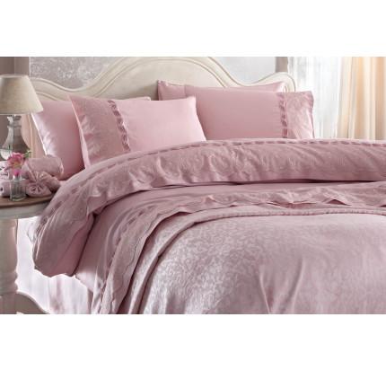 Свадебное постельное белье Charlotte (розовое) евро