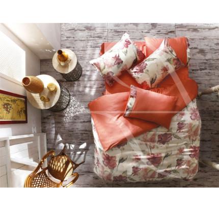 Постельное белье Zebra Casa Clematis orange евро