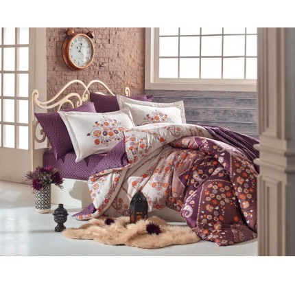 Постельное белье Hobby Home сатин Sancha (коричневый)