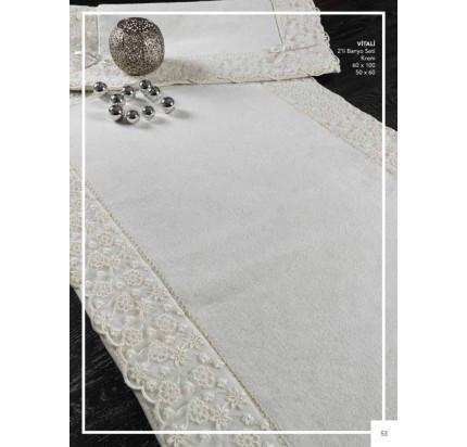 Набор ковриков Karven Vitaly кремовый (50x60+60x100)