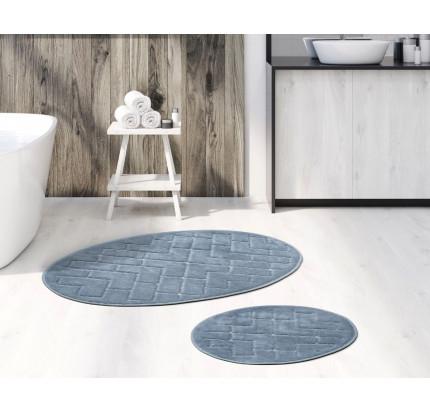 Набор ковриков Karven Oval Parke серый (50x60+60x100)