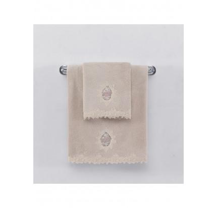 Набор полотенец Soft Cotton Destan (крем-пудра) 3 предмета