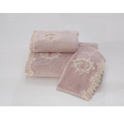 Набор салфеток Soft Cotton Destan (3 предмета, лиловый)