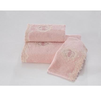 Набор салфеток Soft Cotton Destan (3 предмета, розовый)