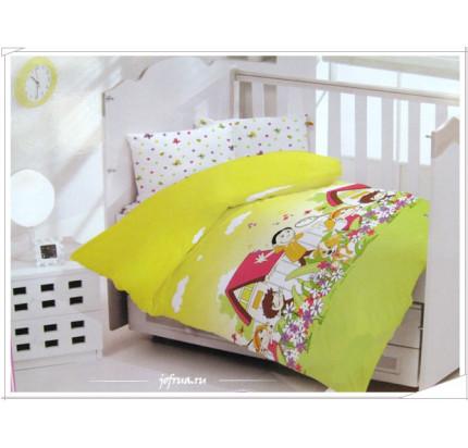Детское белье в кроватку Altinbasak Happy (зеленое)