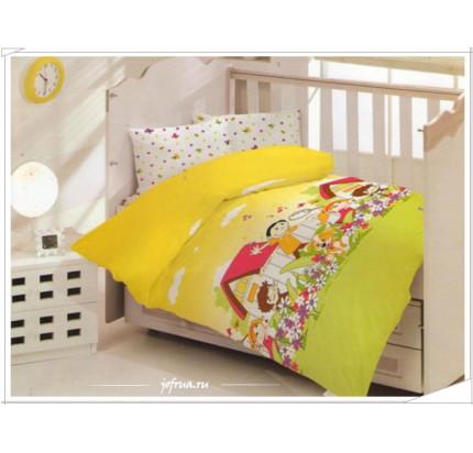 Детское белье в кроватку Altinbasak Happy (желтое)