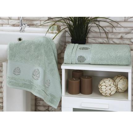 Набор полотенец Karna Devon (зеленый, 2 предмета)