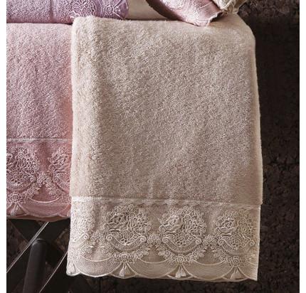 Набор полотенец Tivolyo Diamant (бежевый) 2 предмета