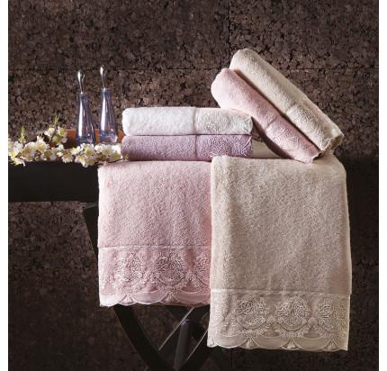 Набор полотенец Tivolyo Diamant (фиолетовый) 2 предмета