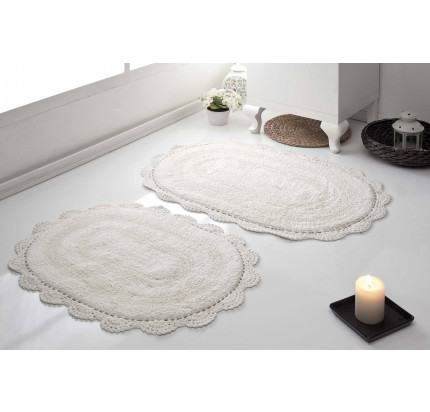 Набор ковриков для ног Modalin Diana (кремовый) 50x80+45x60