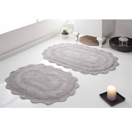 Набор ковриков для ног Modalin Diana (стоне) 50x80+45x60