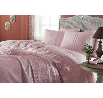 Свадебный набор Gelin Home Donna (розовый) евро