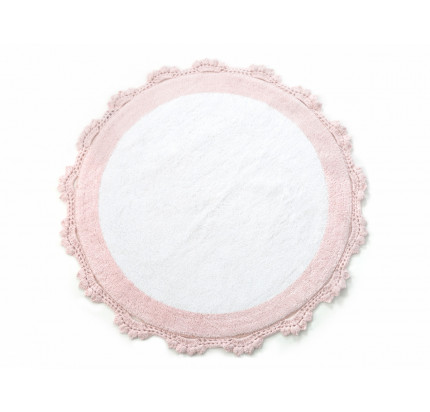 Коврик Irya Doreen pembe-beyaz 90 см. (круглый)