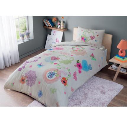 Постельное белье TAC Dottie (розовый) 1.5-спальное