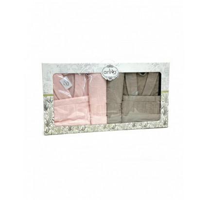 Набор халатов Arliva мужской+женский с полотенцами V-5