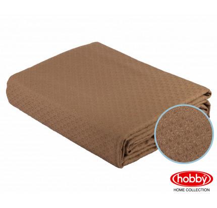 Вафельное покрывало-пике Hobby Home Collection Anastasiya (коричневый) 220x240