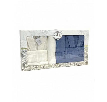 Набор халатов Arliva мужской+женский с полотенцами V-1
