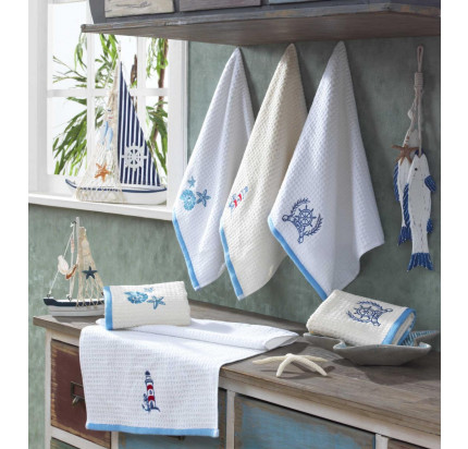 Салфетки Hobby Home Candy синий/белый (2 предмета, 40x60)