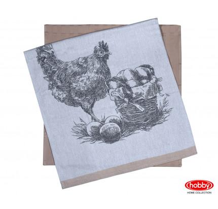 Набор салфеток Hobby Home Hen св.коричневый (50x70, 2 предмета)