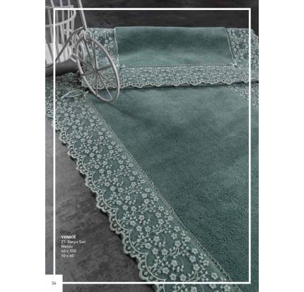 Набор ковриков Karven Venice темно-зеленый (50x60+60x100)
