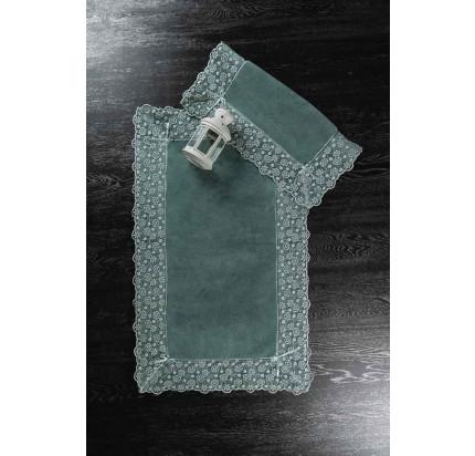 Набор ковриков Karven Vitaly темно-зеленый (50x60+60x100)