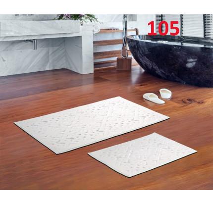 Набор ковриков Karven Loya кремовый (50x60+60x100)
