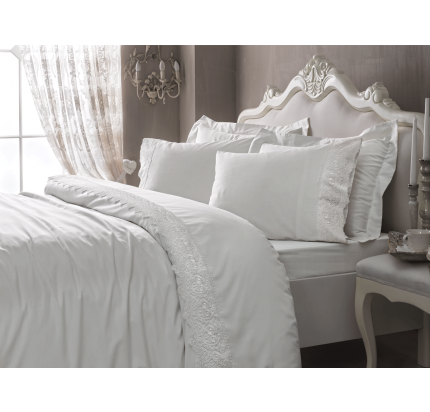 Постельное белье Tivolyo Elegant (белое)