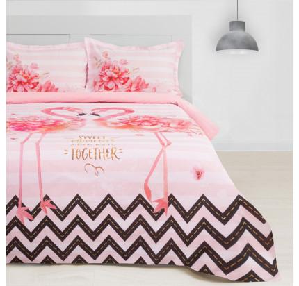 Постельное белье Этель Розовый Фламинго