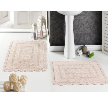 Набор ковриков для ног Modalin Evora (абрикосовый) 50x70+60x100