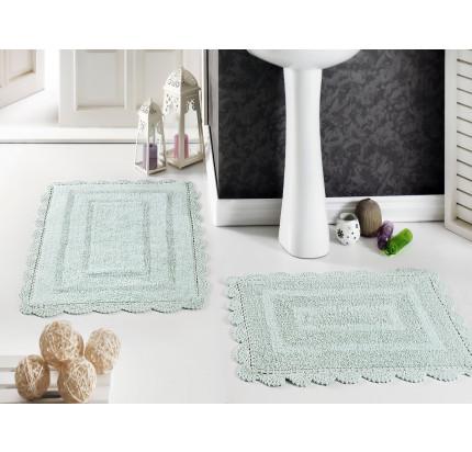 Набор ковриков для ног Modalin Evora (светло-зеленый) 50x70+60x100