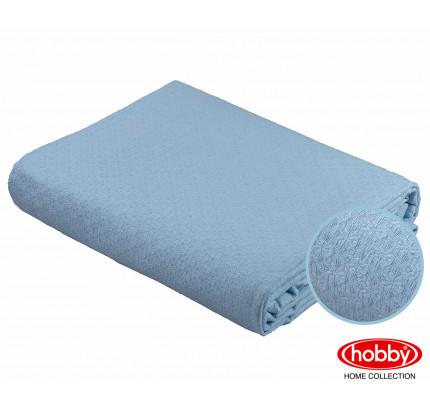 Вафельное покрывало-пике Hobby Home Collection Anastasiya (голубой) 220x240