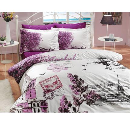Постельное белье Hobby Home поплин Istanbul Panorama (фиолетовый)