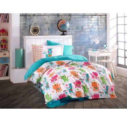 Hobby Home Miouu (бирюзовый) детское постельное белье