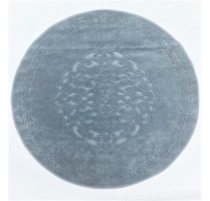 Круглый коврик Karven Osmanli серый 120 см.